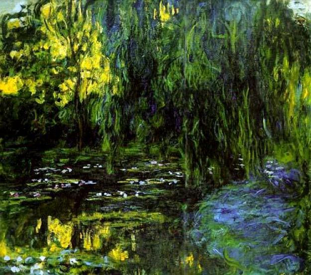 Water-Lily Pond and Weeping Willow (1916-19) by Claude Monet.