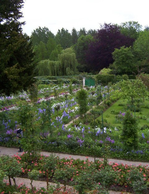 An image of Claude Monet's house garden in Giverny, France.
