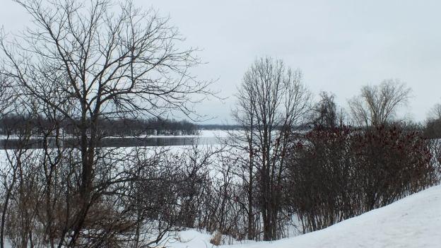 Winter on the Ottawa River near Ottawa, Ontario, Canada