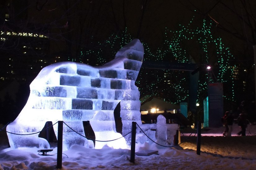 Ice sculptured Polar Bear - Winterlude - Ottawa