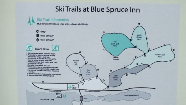 Blue Spruce Inn - Map of Ski Trails