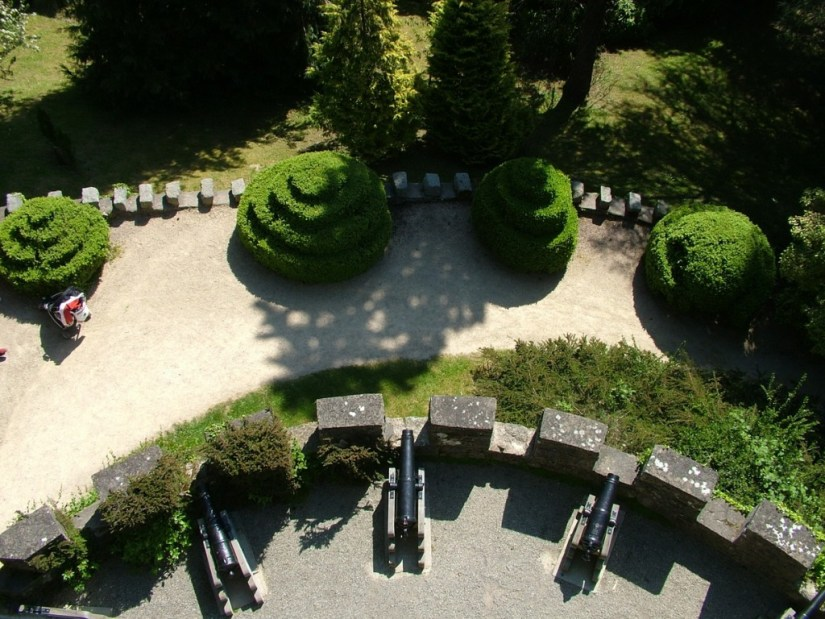 Pepper Pot Tower - view looking down - Powerscourt - Ireland