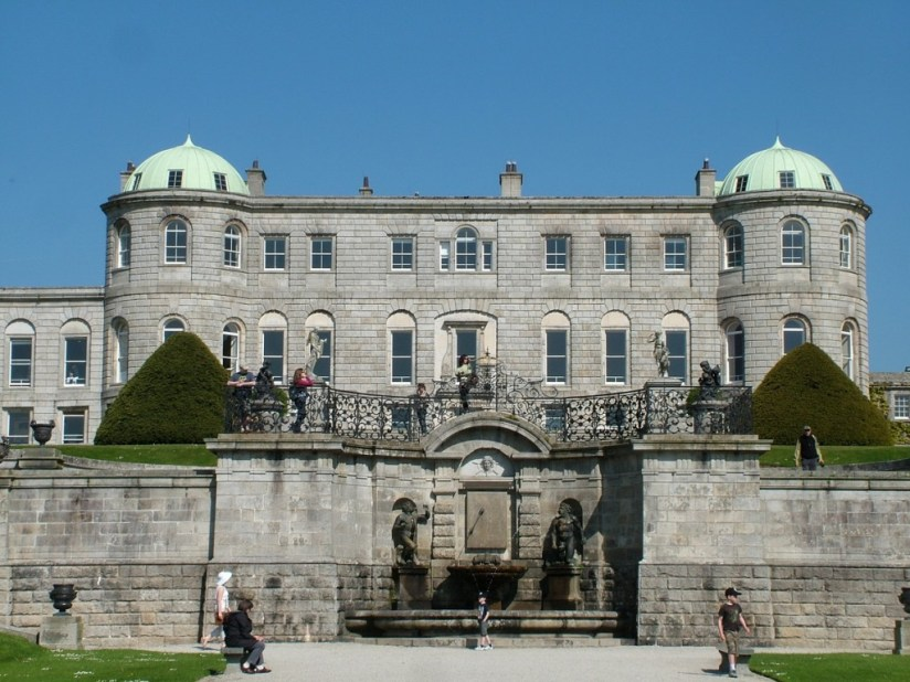 Powerscourt - view of upper deck and house - Ireland