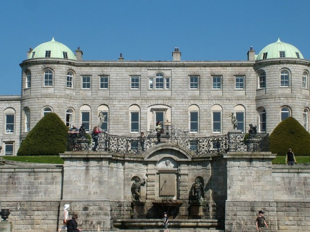 Powerscourt - view of upper deck and house - Ireland