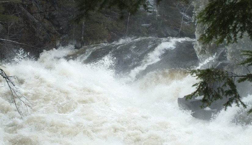 Ragged Falls - top of falls on leftside - Oxtongue River - Ontario - April 20 2013
