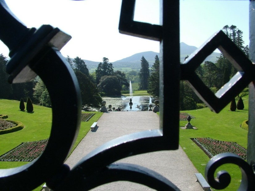 View from Upper Terrace to Triton Lake - Powerscourt - Ireland