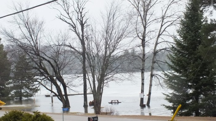 oxtongue lake - flooded - april 19 2013