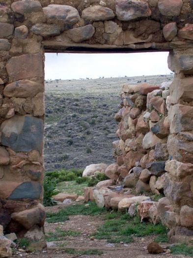 Abandoned ruins entrance way, Peru