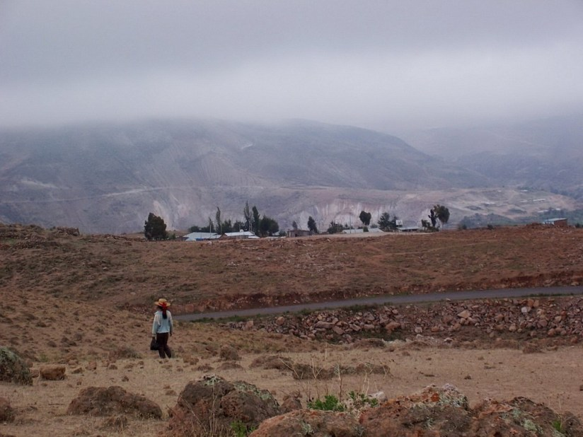 Changing hillsides along Highway 26, Peru