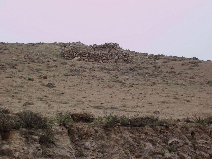 Changing hillsides on highway 26 near Nazca, Peru