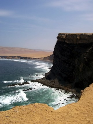 Cliffs in National Reserve of Paracas - Peru