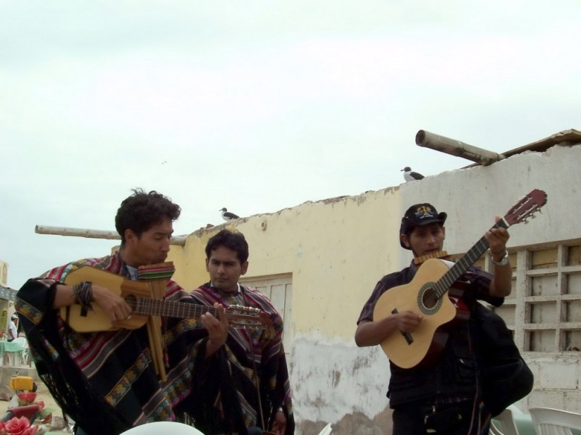 Mariachi band at restaurant in Playa Lagunillas in Paracas National Reserve, Ica, Peru.