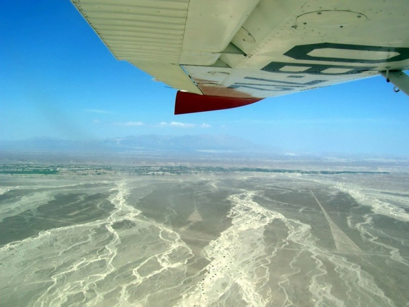 aerial view of nazca valley