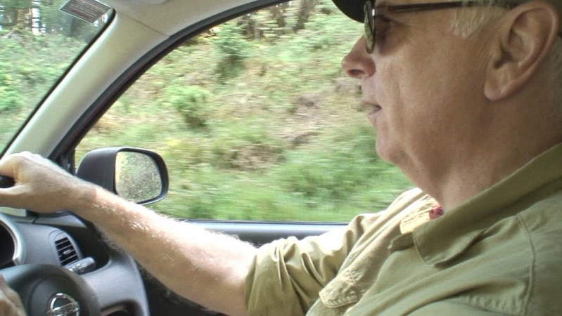 bob drives car - Enniskerry - Wicklow - Ireland