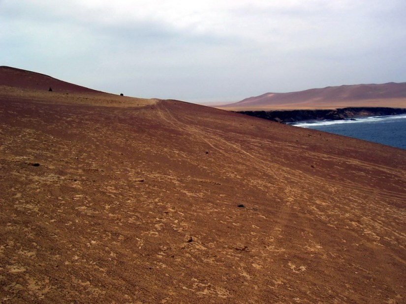 Desert at Paracas National Reserve on the Paracas Peninsula, Ica, Peru.