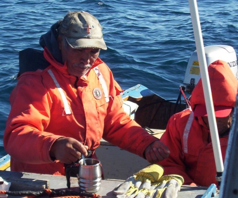 drinking hot water - off baffin island - nunavut
