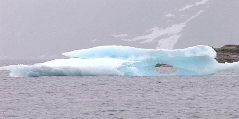 iceberg off baffin island - nunavut