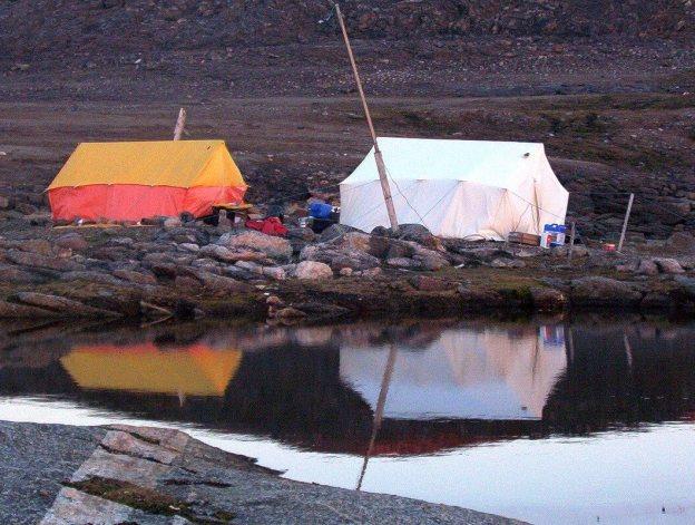 main tents - kekerten island - nunavut - canada