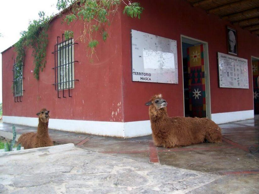 Main building at the Maria Reiche museum near Nazca in Peru, South America