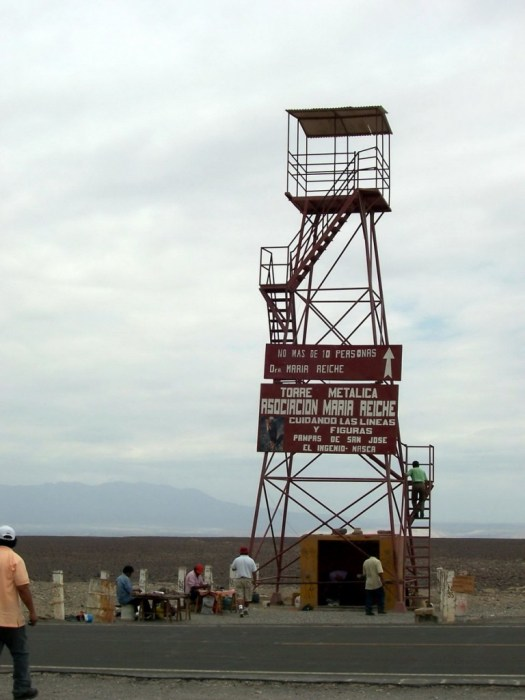 mirador tower in nazca desert - peru - south america