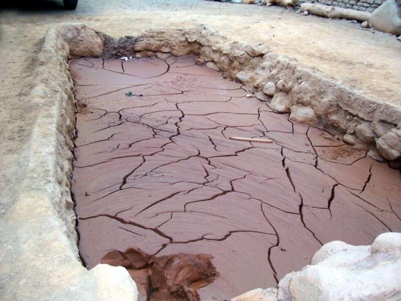 mud vat of gold runoff - nazca - peru
