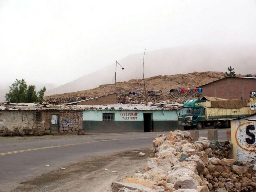 Restaurant along highway 26 near Nazca, Peru, South America