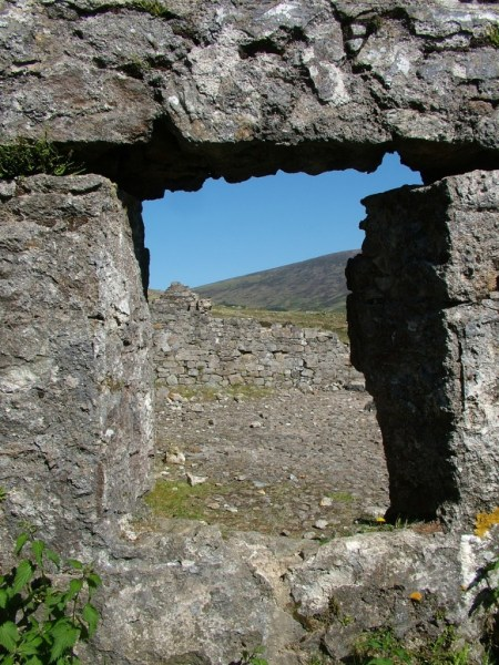 stone window - miners village ruins - wicklow mountains national park - ireland