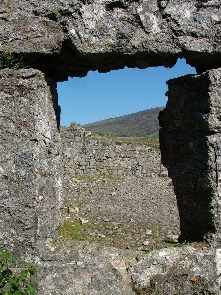 stone window - miners village ruins - wicklow mountains national park - ireland