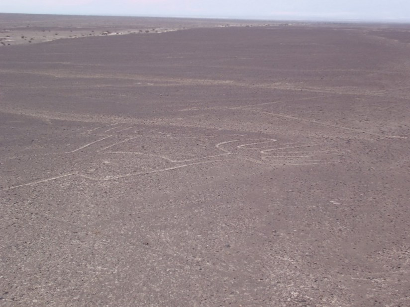 The Hands drawing which is part of the Nazca Lines, which were carved into the desert in Peru, South America.
