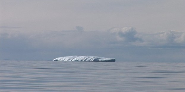unusual shaped iceberg off baffin island - nunavut