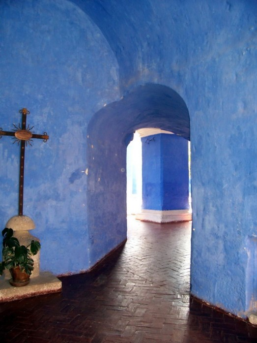 Blue covered walls, Santa Catalina Convent, Arequipa, Peru