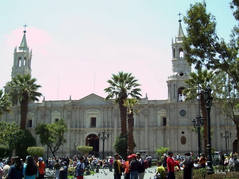 Catedral de la ciudad de Arequipa, Arequipa, Peru