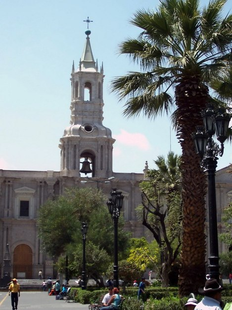 Cathedral, Plaza de Armas, Arequipa, Peru
