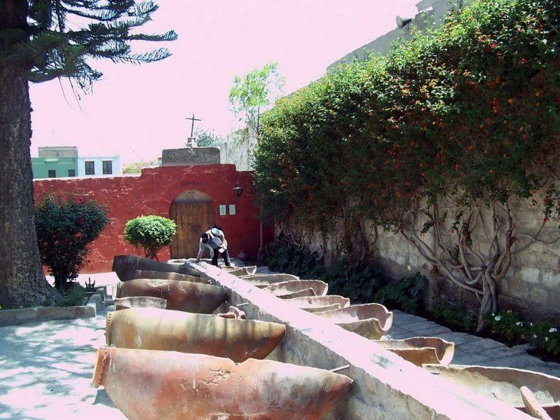 Laundry courtyard Santa Catalina, Arequipa, Peru