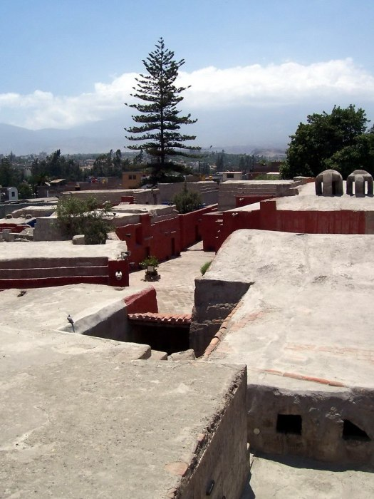 Roof top view of Monasterio de Santa Catalina, Arequipa, Peru