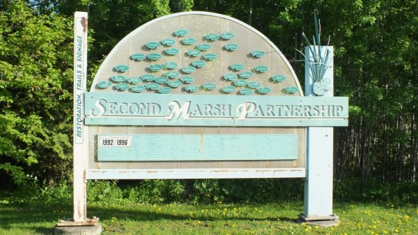 Second Marsh entrance sign - oshawa - ontario