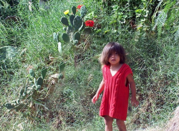 child in sand dune village - camana - peru