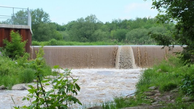 dam on green river - north of whitevale - ontario