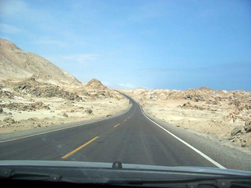 desert alongside the pan american highway - peru