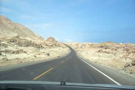 desert alongside the pan american highway - peru
