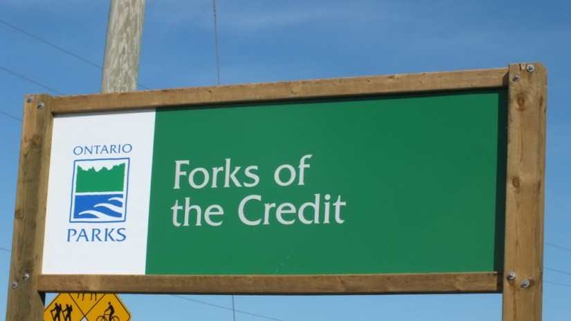 forks of the credit provincial park sign - caledon - ontario