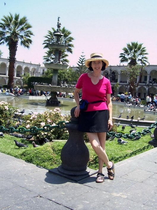 jean in Main Square, Arequipa, Peru