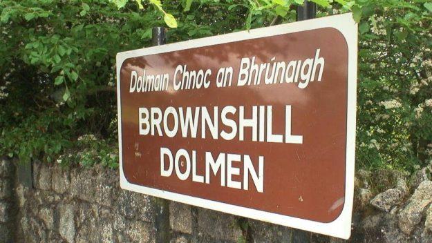 brownshill dolmen sign - county carlow - ireland