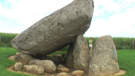 jean checks out the brownshill dolmen - county carlow - ireland