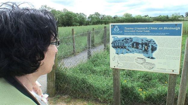 jean reads brownshill portal tomb sign - ireland