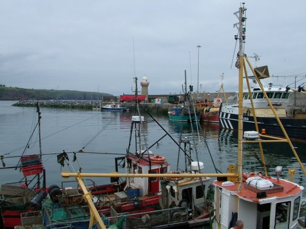 main wharf in harbour at dunmore east - county waterford - ireland