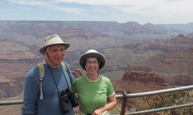 Bob & Jean at south rim - Grand Canyon