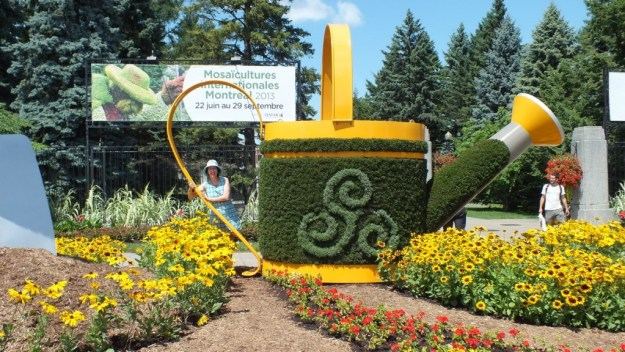 Main Entrance gate for Mosaiculture - Montreal Botancial Gardens