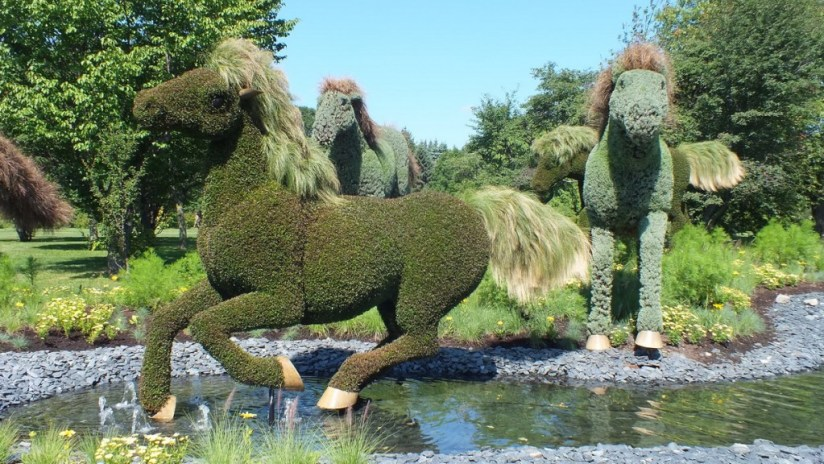 Mother Earth (closeup of horses) - Mosaiculture - Montreal Botancial Gardens
