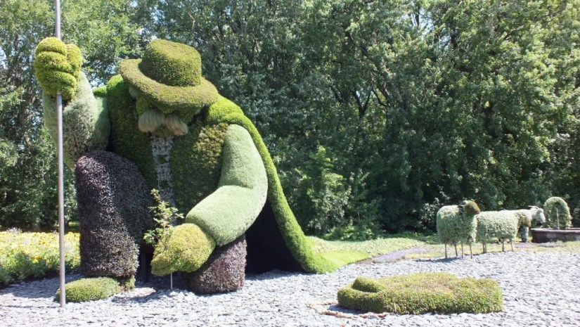 The Man Who Planted Trees topiary at Mosaiculture 2013 at Montreal Botancial Garden, Montreal, Quebec, Canada